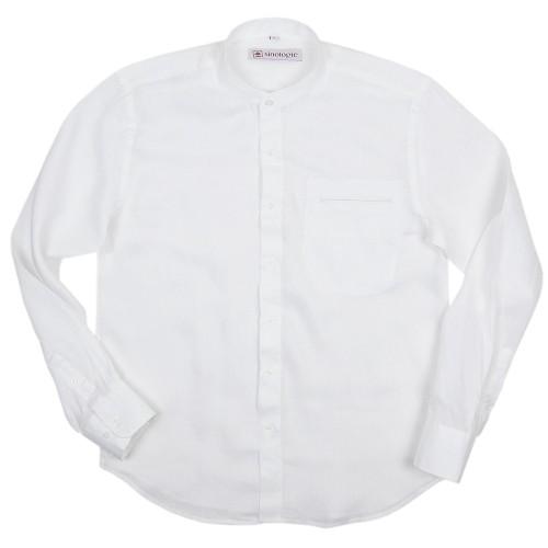 Chemise col Mao boutonné en lin