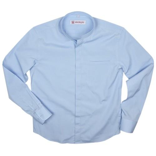 Poplin cotton shirt with Officer collar