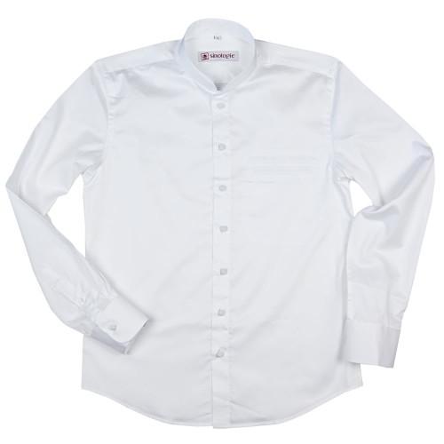 """Chemise col Mao """"Est-Ouest"""" en popeline de coton"""