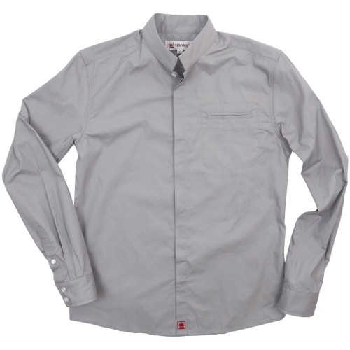 Poplin cotton shirt with Officer collar