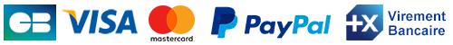 Visa, Mastercard, Paypal, Virement